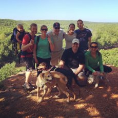 Adoptive Family Photo: Hiking With Friends, click to view bigger version