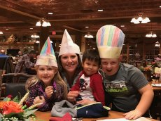 Adoptive Family Photo: Wearing Silly Baker's Hats, click to view bigger version