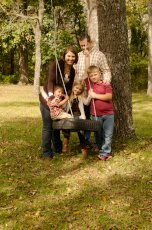Adoptive Family Photo: Playing on the Tire Swing, click to view bigger version