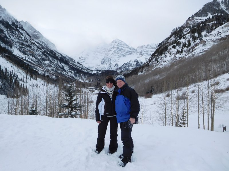 On a Snowmobile Tour in Aspen