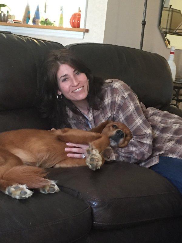 Snuggling with Farfel
