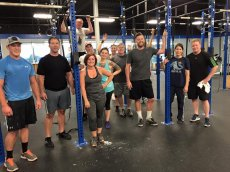 Adoptive Family Photo: After a Tough Crossfit Workout with Our Friends, click to view bigger version