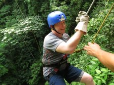 Adoptive Family Photo: Rappelling in Costa Rica, click to view bigger version