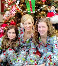 Adoptive Family Photo: Christmas PJ Tradition, click to view bigger version