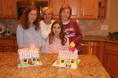 Adoptive Family Photo: Decorating Gingerbread Houses, click to view bigger version