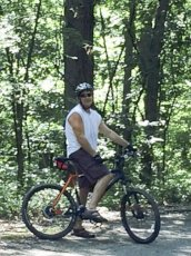 Adoptive Family Photo: Dan Riding a Local Trail, click to view bigger version