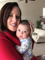 Adoptive Family Photo: Cuddling My Sweet Godson, Nicholas, click to view bigger version