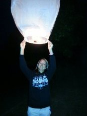 Adoptive Family Photo: Love Releasing Sky Lanterns!, click to view bigger version