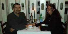 Adoptive Family Photo: Enjoying a Lovely Anniversary Dinner, click to view bigger version
