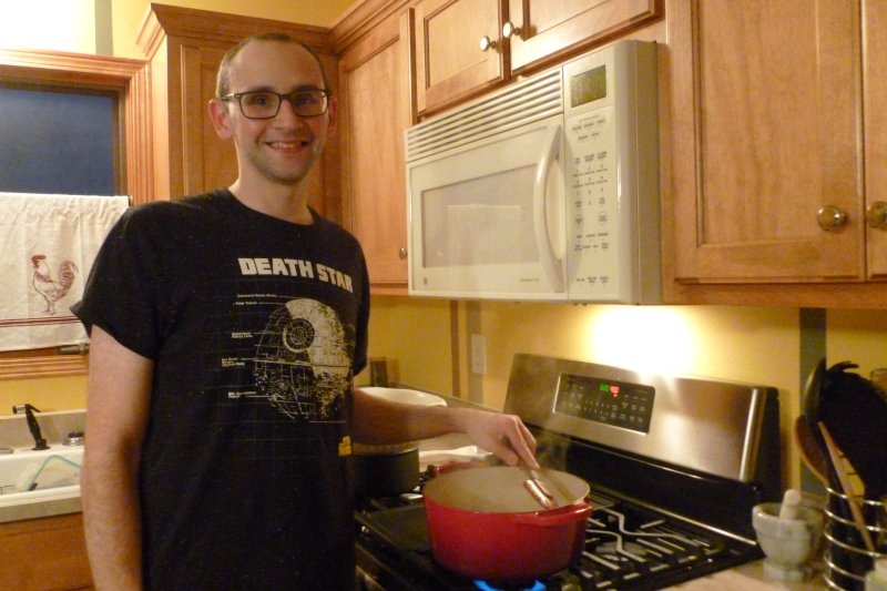 Matt Always Has a Smile While Cooking!