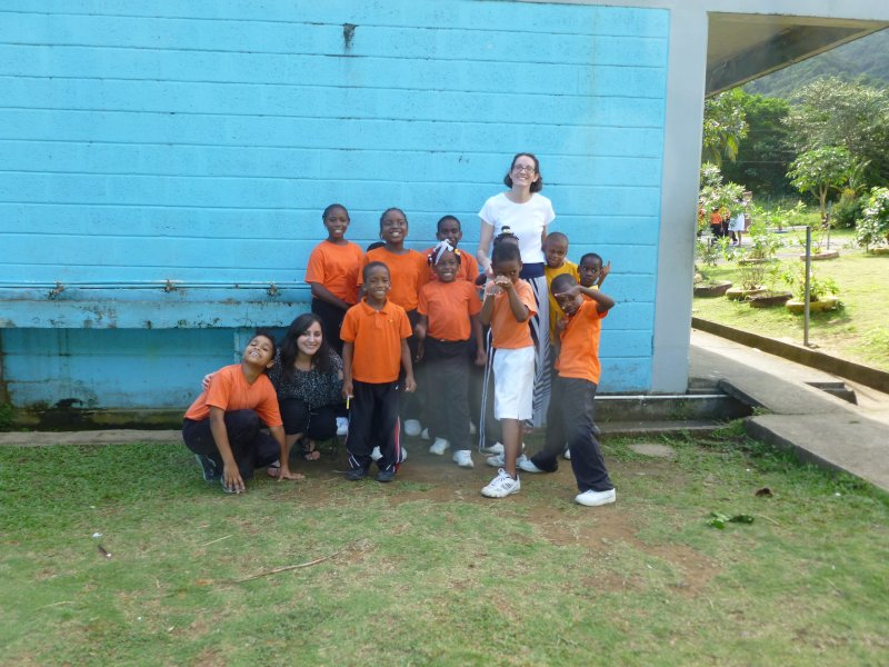 Volunteering With School Children in Dominica