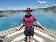 Adoptive Family Photo: Visiting the Pools in Yellowstone