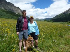 Adoptive Family Photo: At the Wildflower Festival in Crested Butte