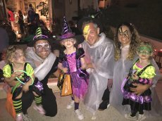Adoptive Family Photo: Trick or Treating With Friends, click to view bigger version