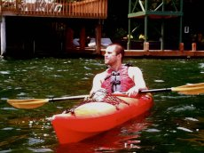Adoptive Family Photo: Brian Kayaking, click to view bigger version