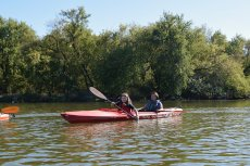 Adoptive Family Photo: Kayaking With a Friend's Daughter, click to view bigger version