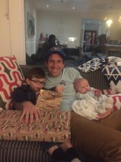 Adoptive Family Photo: Hanging Out with Our Nephews, click to view bigger version