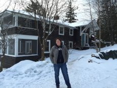 Adoptive Family Photo: Heather at Our Favorite Winter Getaway Spot in Lake Placid, NY, click to view bigger version