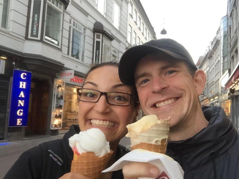 Enjoying Some Ice Cream