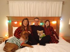 Adoptive Family Photo: The Family at Christmas, click to view bigger version