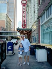 Adoptive Family Photo: Afternoon in Town With Dad, click to view bigger version
