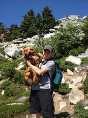 Adoptive Family Photo: Graham and Dunphey on a Hike, click to view bigger version