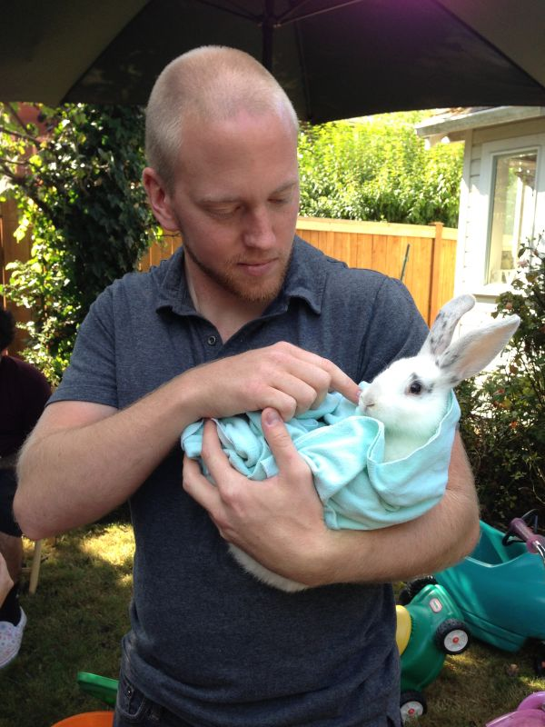 Snuggling a Bunny