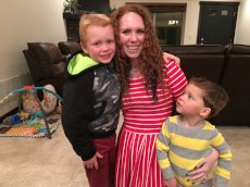 Adoptive Family Photo: Kathleen With Our Nephews, click to view bigger version
