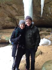 Adoptive Family Photo: We Love to Hike - Exploring Ice Caves in Ohio, click to view bigger version