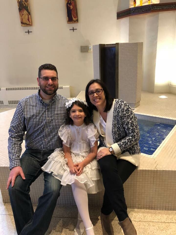 Celebrating Our Niece's First Communion