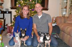 Adoptive Family Photo: Christmas with Our Pups, click to view bigger version