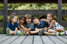 Adoptive Family Photo: Rowan and Some of the Cousins, click to view bigger version