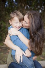 Adoptive Family Photo: Mommy Gives 100 Kisses Everyday, click to view bigger version