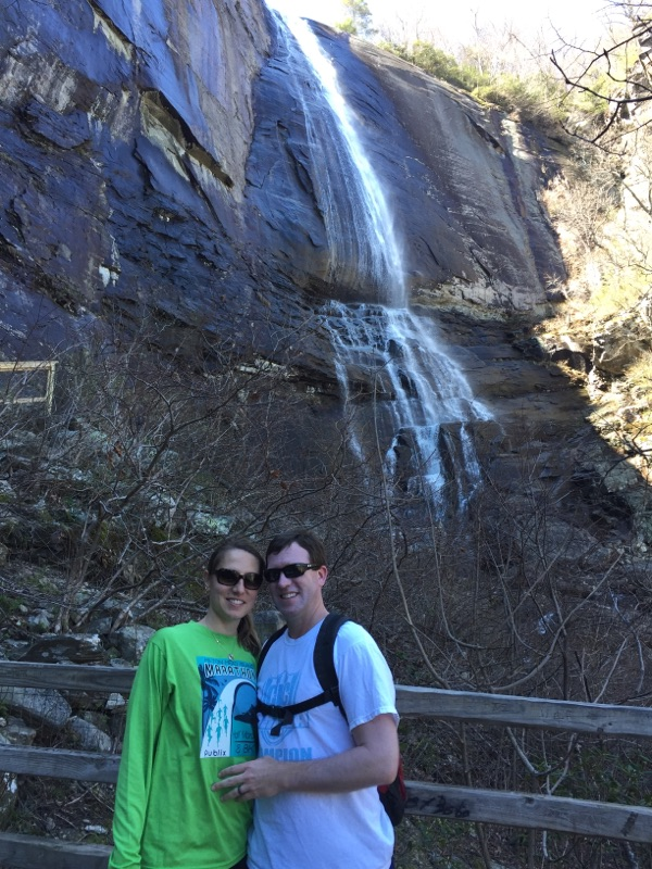 Hiking to the Waterfalls at Chimney Rock