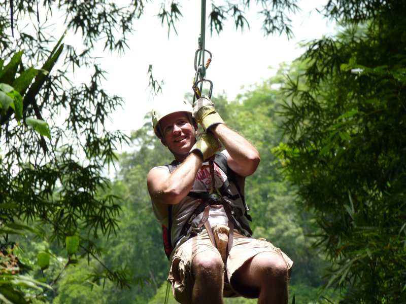 Having Fun on the Zip Line