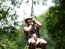 Adoptive Family Photo: Having Fun on the Zip Line, click to view bigger version