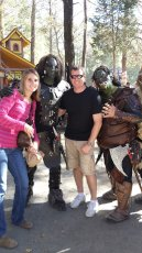 Adoptive Family Photo: Making Friends at the Renaissance Festival, click to view bigger version