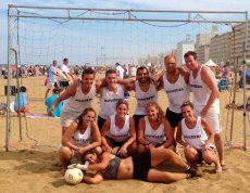 Adoptive Family Photo: Sand Soccer Champions, click to view bigger version