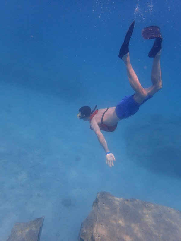 Brad Snorkeling in Honduras