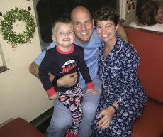 Adoptive Family Photo: A Magical Time on the Polar Express, click to view bigger version