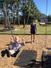 Adoptive Family Photo: Swings & Sunshine, click to view bigger version