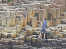 Adoptive Family Photo: Erica Strolling Through Giant's Causeway, click to view bigger version
