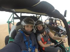 Adoptive Family Photo: Touring Dubai by Dune Buggy, click to view bigger version