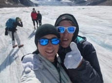 Adoptive Family Photo: Awesome Glacier Walk in the Canadian Rockies, click to view bigger version
