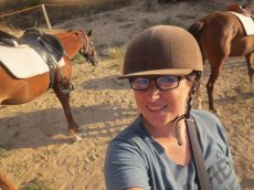 Adoptive Family Photo: Cassi Geared Up for a Trail Ride, click to view bigger version
