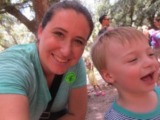 Adoptive Family Photo: Cassi & Our Nephew Happy in Florida, click to view bigger version