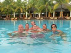 Adoptive Family Photo: In Mauritius With Family & Friends, click to view bigger version