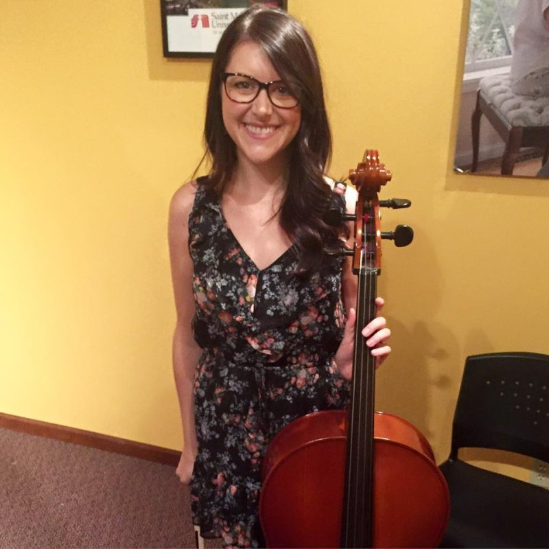 Performing at a Cello Recital