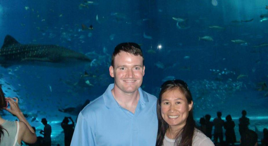At the Aquarium in Japan