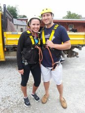 Adoptive Family Photo: Suited Up to Zipline, click to view bigger version